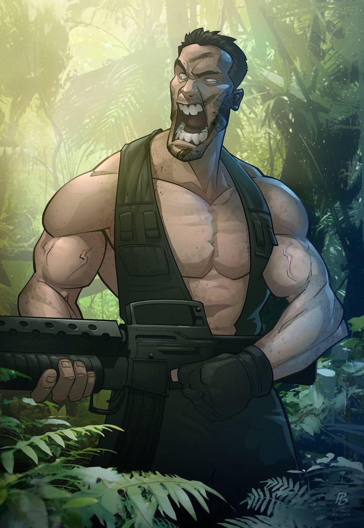 mlkshk: Predator, 3D Characters, Illustration, Digital Art, Character Design, Patrickbrown, Da Choppa