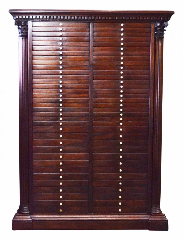 Collectors cabinet with ivory knobs.