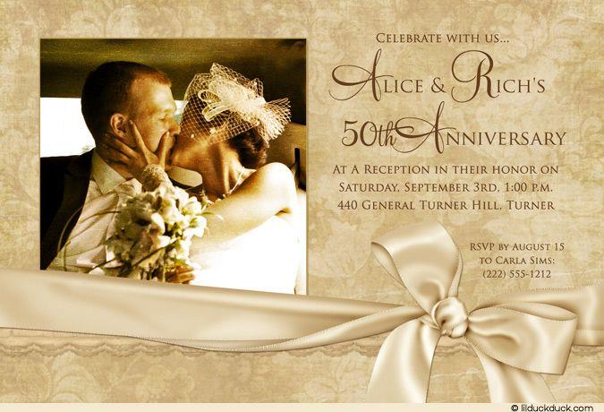 Golden Wedding Anniversary Invitations: Best 25+ 50th Anniversary Invitations Ideas On Pinterest