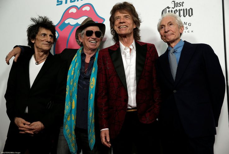 The Rolling Stones attend debut of Exhibitionism in NYC - 15.11.2016