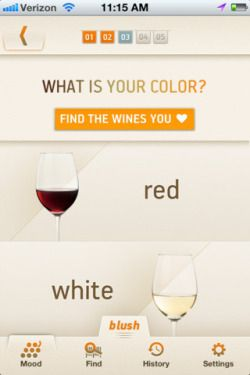 navigation onBlush for Wine