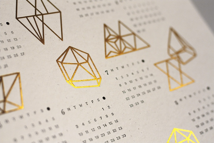 This letterpress and gold foil calendar is fancy chic. $33