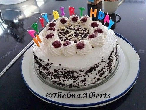 My latest Black Forest cake made for a friend last April 2015, who lives in The Netherlands.
