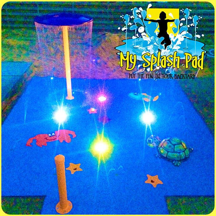 My Splash Pad LED Color Changing Spray Fountain Splashpad Splashpads Pads