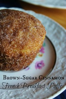 Spiced Brown-Sugar Cinnamon French Breakfast Puffs {Prairie Gal Cookin'}