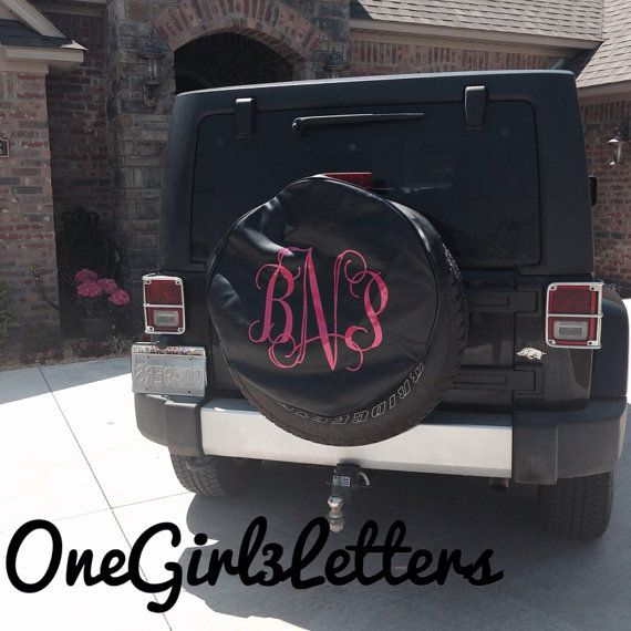 Custom Monogrammed Spare Tire Cover Onegirl3letters