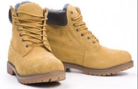 Ботинки зимние желтые