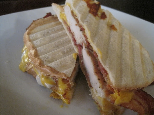 Country Club Melt Panini. Chicken, bacon, cheese, ranch? yep.
