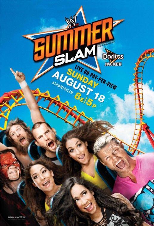 WWE Summerslam-Ha ha ha ha ha ha...... aj lee dolph ziggler nikkie and brie bella cm punk kane and the yes man daniel bryan