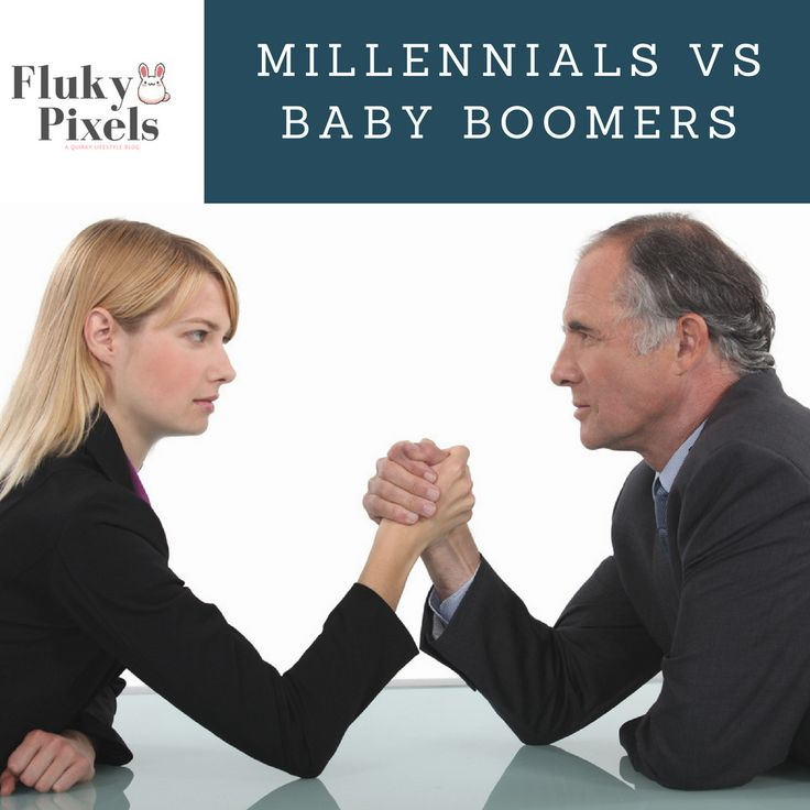 Millennials Vs. Boomers in the Workplace: True Story What's up with generalizations about a whole generation? Let's take a closer look at statistics and a little bit of a story time for you guys.