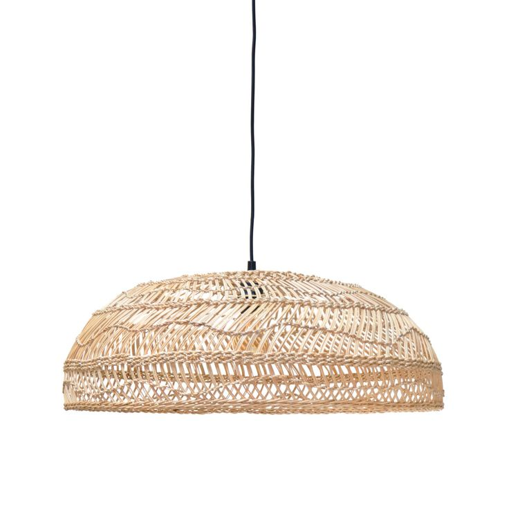 Wicker Medium Hanging Lamp • WOO Design