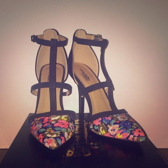 Multi-colored strappy heels Beautiful multi-colored heels! Size 8 but they're a little too snug for me and they've never been worn out before! Perfect condition and perfect for a night out! ✨ Charlotte Russe Shoes Heels