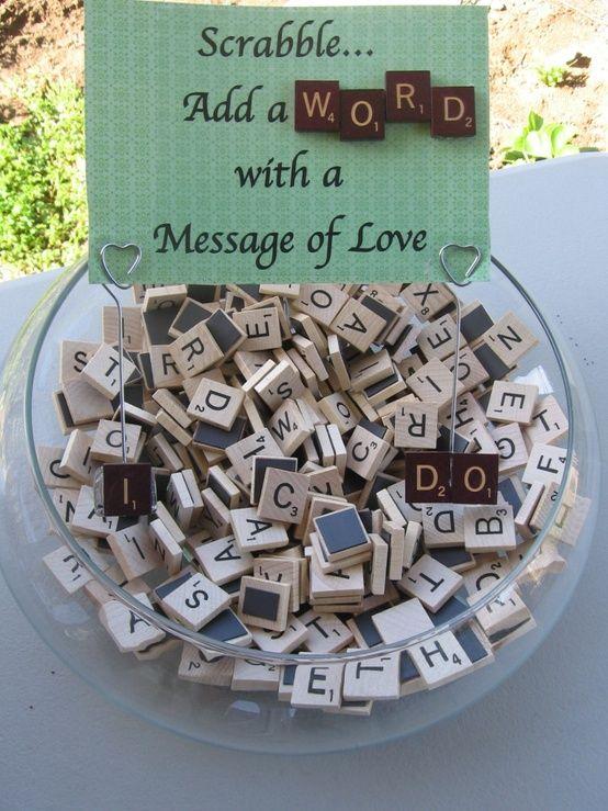 Scrabble activity for Wedding