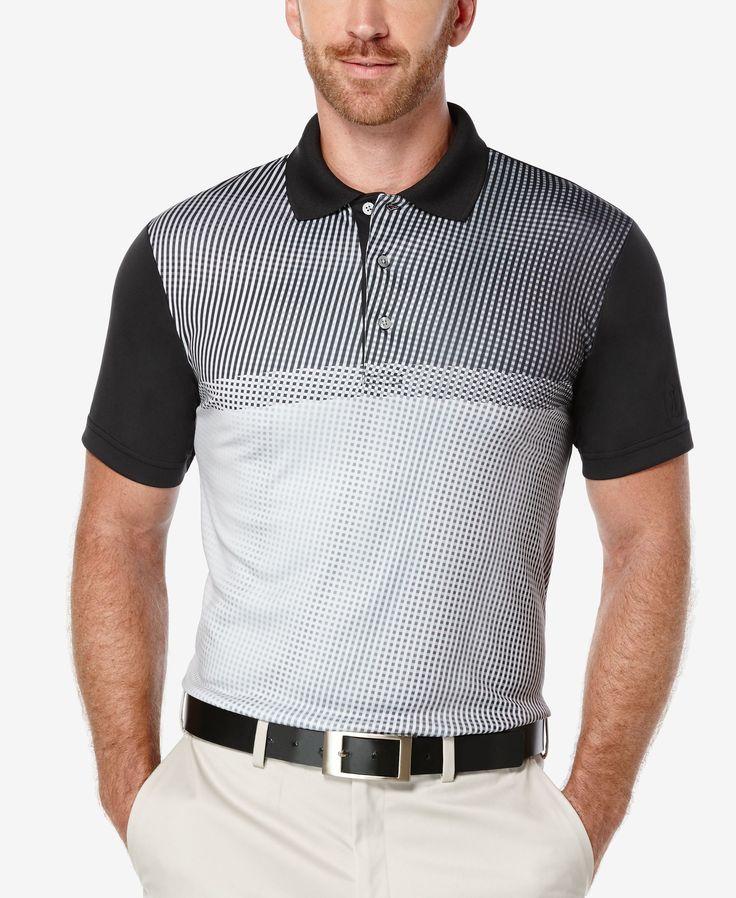 Pga Tour Men's Tonal Print Golf Polo