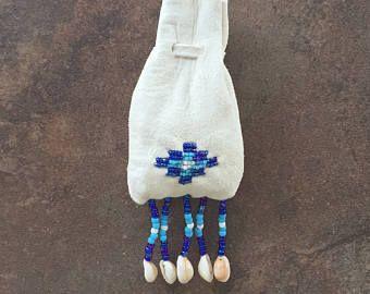 Medicina bolsa, arte nativo americano, 100% auténtico, con cuentas gamuza cuero bolso de la medicina, hecho a mano, mano-moldeadas, Cheyenne bolso de cuentas de la medicina