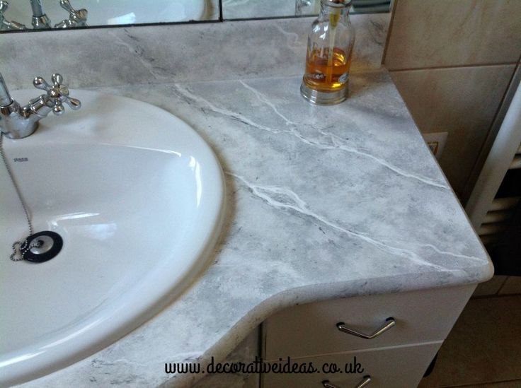 25 best ideas about faux marble countertop on pinterest - Faux marble bathroom countertops ...