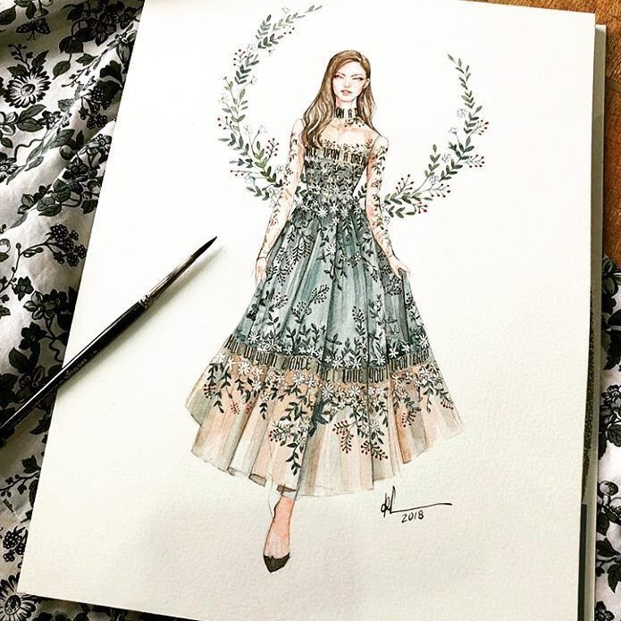 I really loved this drawing because of the accessories. Both the neckline and the length of the dress's skirt remind me of the twenties. I also chose this picture because of the feathery wings the fairy has. Source: https://www.pinterest.com/pin/533395149610910574/