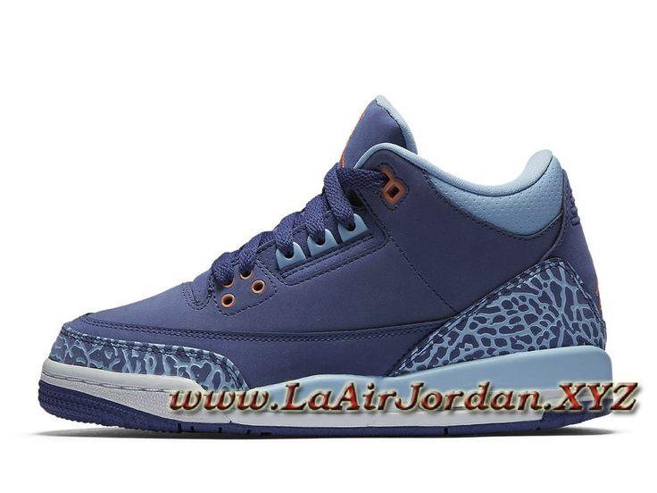 Air Jordan 3 Retro GS Violette 441140_506 Chaussures Jordan Prix Pour Femme/Enfant