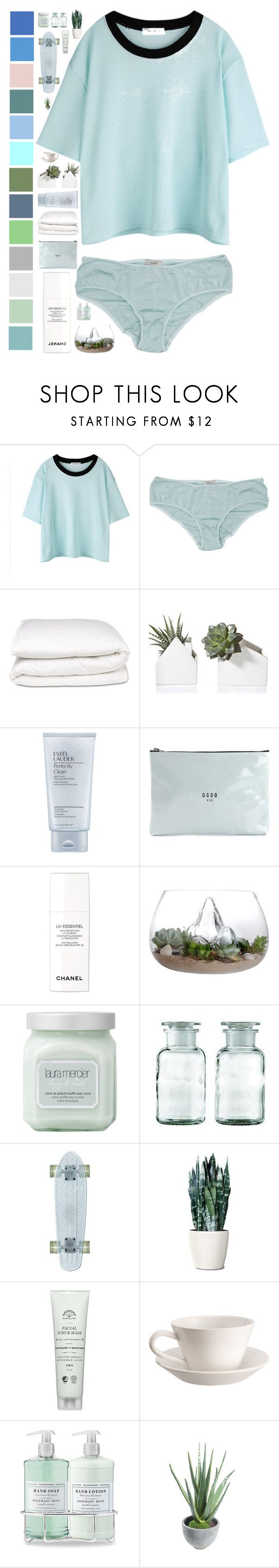 """Untitled #372"" by nicoladaly ❤ liked on Polyvore featuring Ganni, Selfridges, Estée Lauder, Golden Goose, Chanel, Laura Mercier, Bourg-Joly Malicorne, Williams-Sonoma and Alöe"