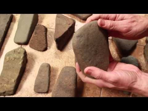 Indian stone tools Indian artifacts, how to identify ancient stone tools, axes pecking and grinding - YouTube
