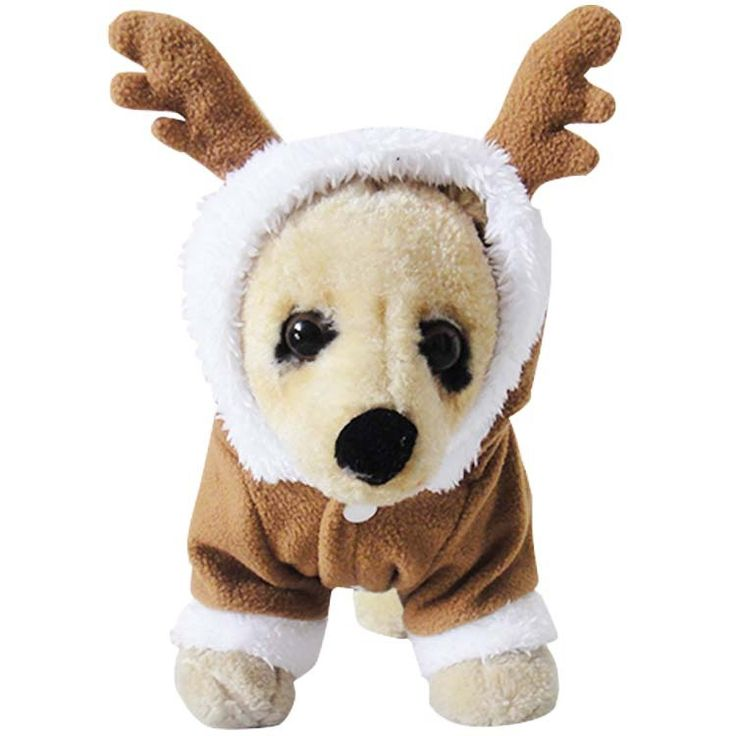 Pet Puppy Dogs Coat Winter Warm Coat Brown Lovely Elk Two Feet Desig Free Shipping By China Post Dog Clothing