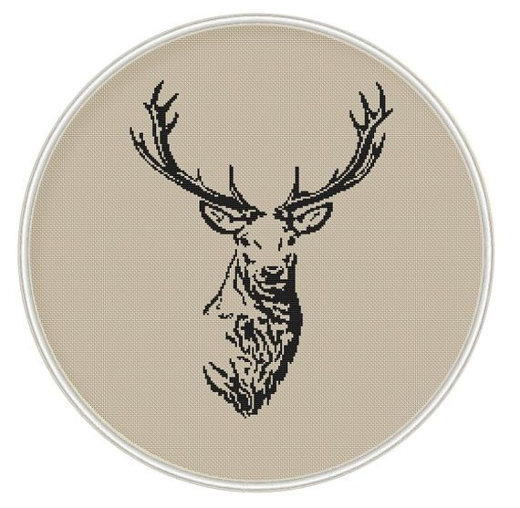 Deer (big size) Сross stitch pattern, PDF cross stitch, Instant Download, animal cross stitch - MCS050
