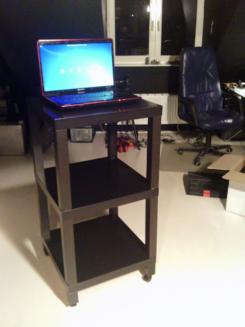 Standing Workplace  (Reminds me of the work carts we had in college for tethered shooting)