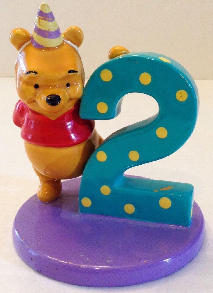 Disney Winnie the Pooh Birthday Cake Topper Decoration 2nd ...