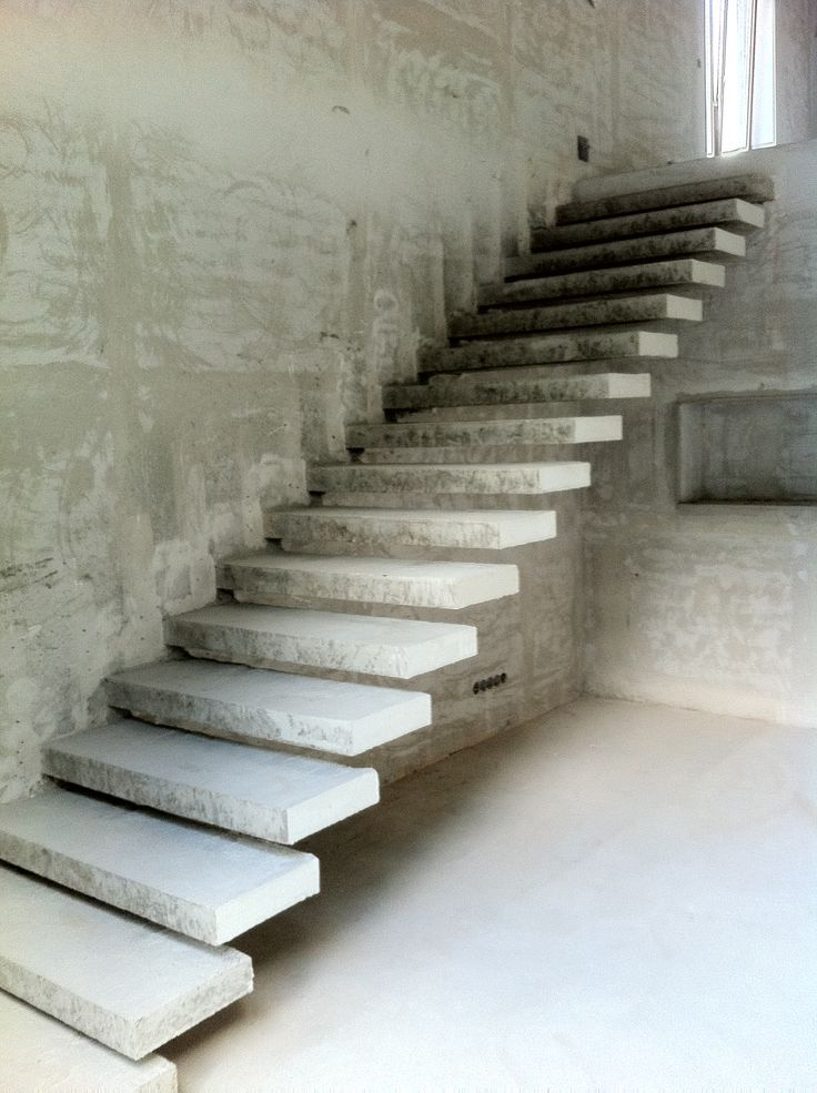 117 best stairs cantilever images on pinterest for Pre built stairs interior