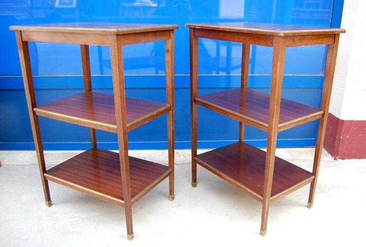 Coppia di tavolini in mogano primo '900