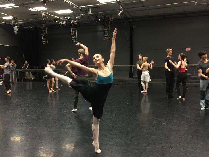 Rehearsing for Twyla Tharp's The Princess and the GoblinAlanna McAddie; Photo by Diana Blumczynski