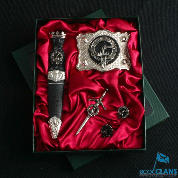 Clan Crest Kilt Accessory Set  http://www.scotclans.com/scottish_clans/clan_matheson/shop/kilt_accessories/AP-CGS1.html