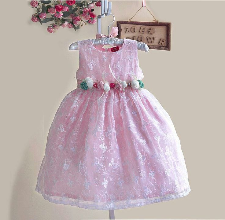 Dress zoe pink, sz 1-6tahun