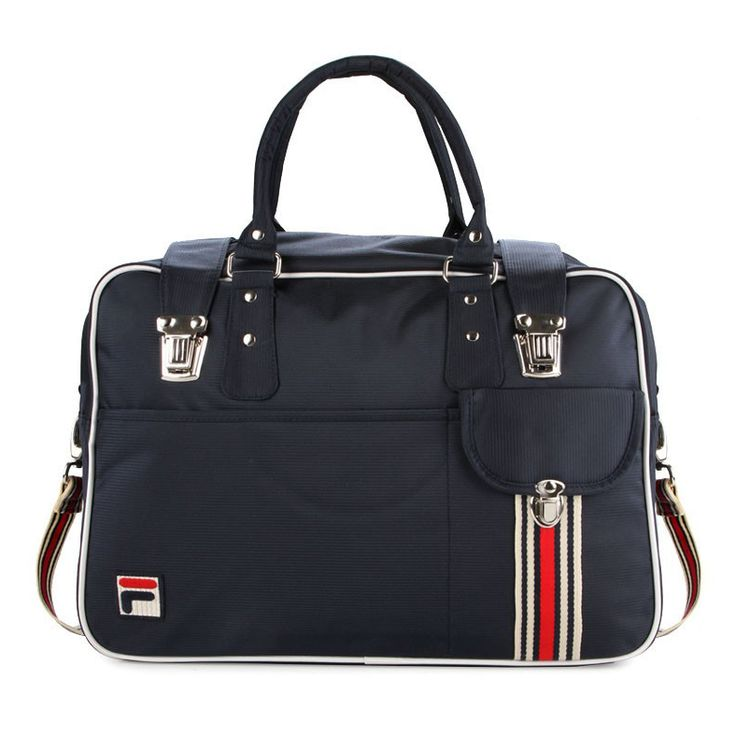 Milner Bags Limited Edition by Fila. This bag is coming with zipper navy color, made from polyester, Embroidery Fila logo, adjustable strap with multi color, navy, red and white, small pocket. Design by Fila. http://zocko.it/LDQzY