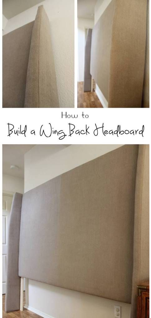 Detailed tutorial to build an upholstered wing back headboard | Sprinkled with Sawdust