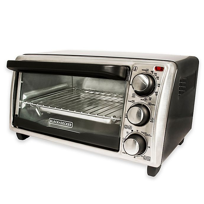Black Decker 4 Slice Toaster Oven In Grey Bed Bath Beyond In 2020 Toaster Oven Convection Toaster Oven Marble Countertops Kitchen
