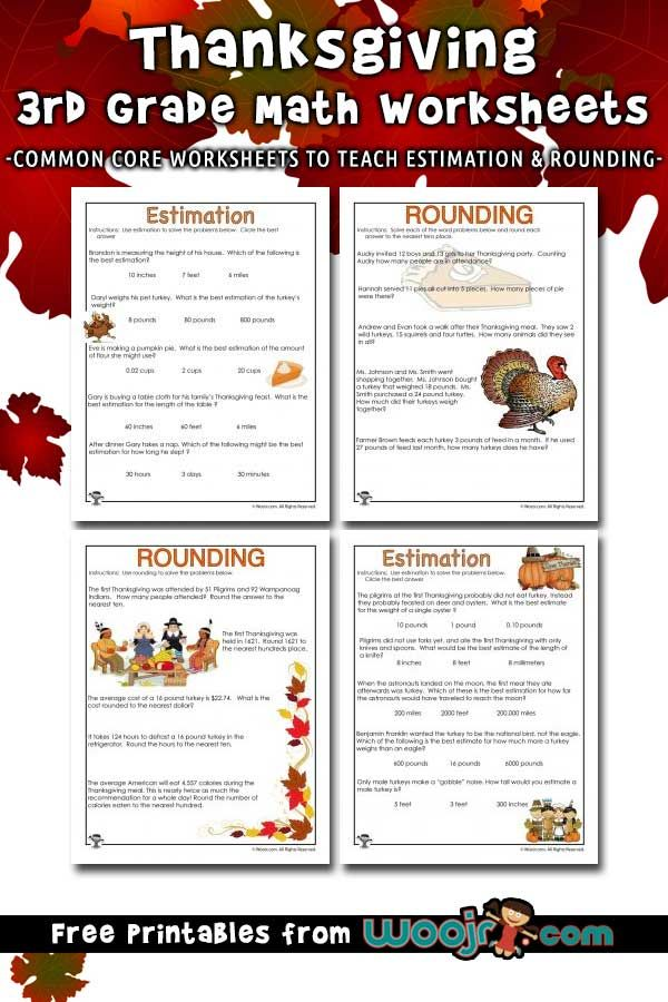 Thanksgiving Math Word Problems Estimating And Rounding Woo Jr Kids Activities Word Problem Worksheets Math Word Problems Word Problems Rounding word problems worksheets