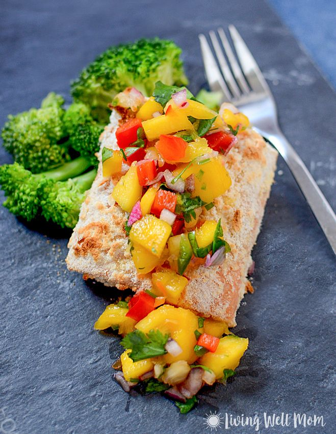 ingredients, Coconut Crusted Salmon with Mango Pineapple Salsa ...