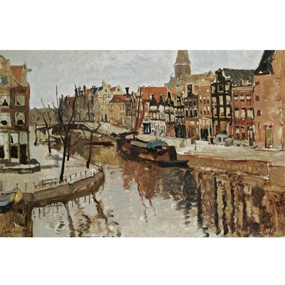 George Hendrik Breitner, A view of the korte prinsengracht, amsterdam