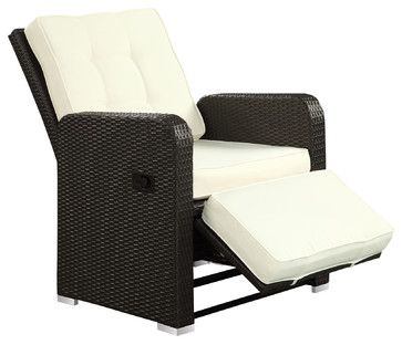 Commence Patio Outdoor Patio Armchair Recliner tropical-outdoor-lounge-chairs