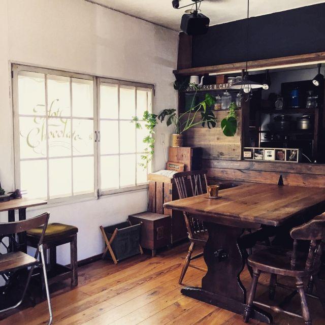 chikoさんの、リビング,DIY,カフェ風,リノベーション,窓枠DIY,セルフリノベーション,男前インテリア,ブログ更新しました♡,RC愛知,のお部屋写真