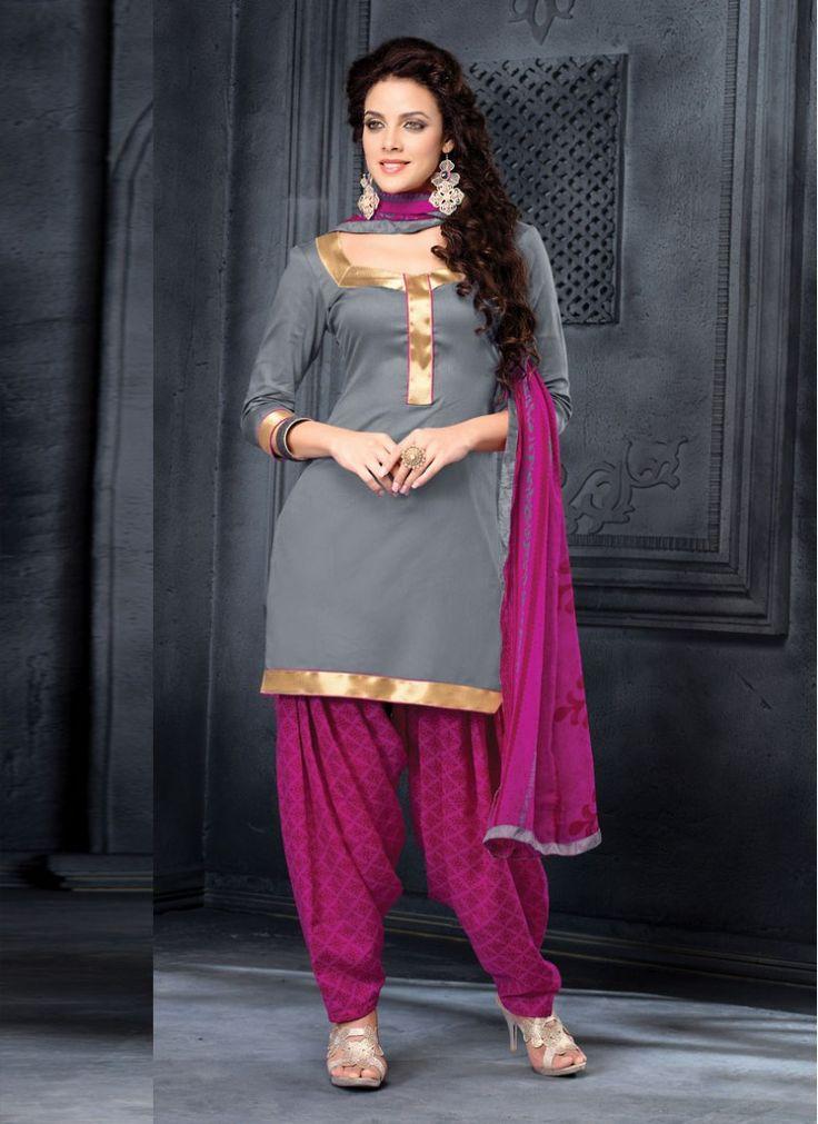 Festival Grey Patiala Salwar Suit