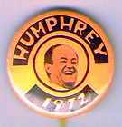 1 1972 HUBERT HUMPHREY FOR PRESIDENT PIN, PINBACK BUTTON C523 - 1quot, 1972, Button, C523, Hubert, HUMPHREY, PINBACK, PRESIDENT