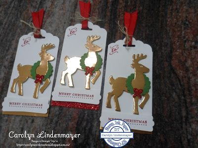 """Hello Everyone,   Welcome to our """"Anything but a Card"""" challenge this week at Stamp, Ink, Paper.        I made some tags for Christmas using..."""