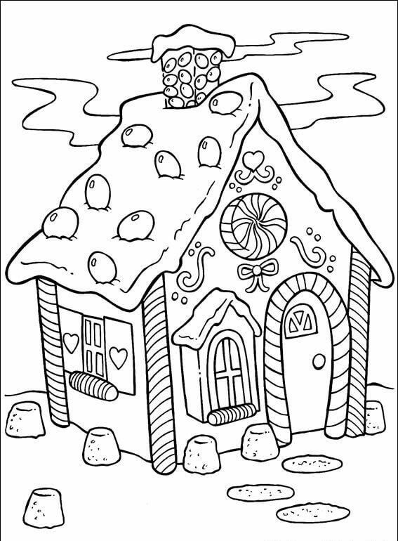 Christmas Gingerbread House Coloring Pages Christmas Coloring Printables Free Printable Coloring Pages Coloring Pages