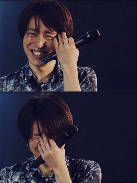 安田章大がすき。このくしゃくしゃ笑顔に癒される☺︎