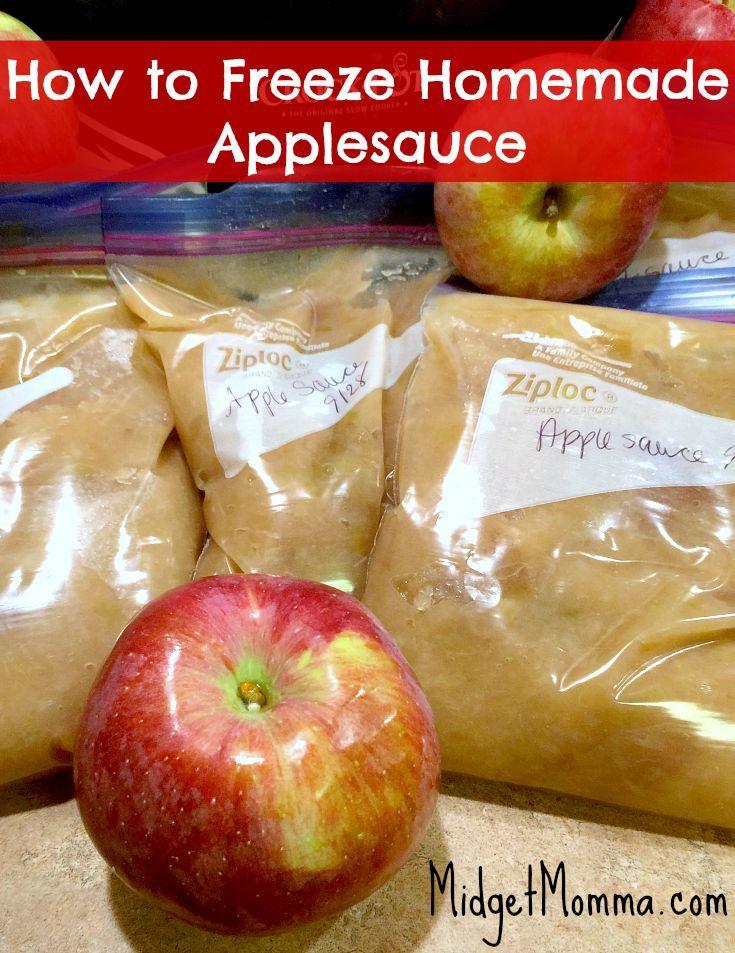 How to Freeze Homemade Applesauce