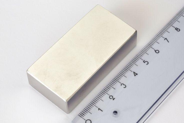 Neodym Magnete und Supermagnete Supermagnet Quader Neodym Magnet 60x30x15mm vernickelt N40, Magnete Neodym Magnete