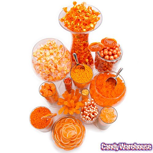 Orange Candy Buffets | Photo Gallery | Bulk Candy From CandyWarehouse.com