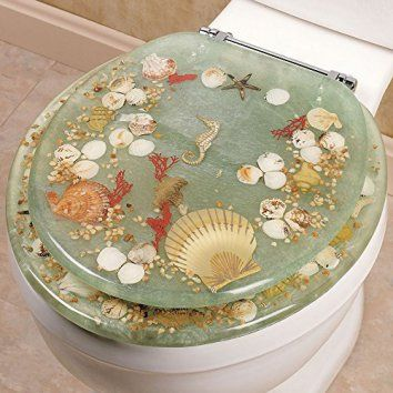 17 Best Ideas About Seashell Toilet Seat On Pinterest